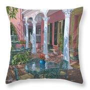 Meeting Street Inn Charleston Throw Pillow by Richard Harpum