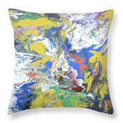 Meeting Of The Clouds Throw Pillow