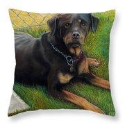 Meg In The Summer Sun @ Ariesartist.com Throw Pillow