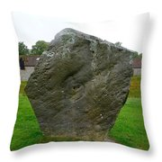 Megalith At Avebury Throw Pillow