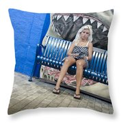 Megalodons Throw Pillow