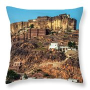 Mehrangarh Fort Throw Pillow