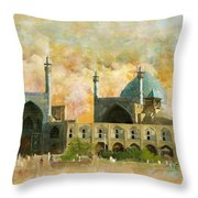 Meidan Emam Esfahan Throw Pillow