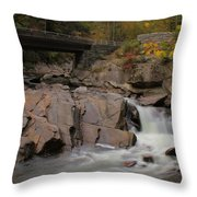 Meigs Falls In Autumn Throw Pillow