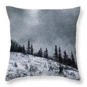 Melancholia Pines And Trees Throw Pillow