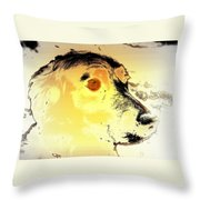 Feeling Like The Most Melancholic Dog In The World  Throw Pillow
