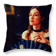 Melancholy Beauty Throw Pillow