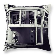 Old Tram In Melbourne Throw Pillow