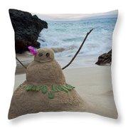 Mele Kalikimaka Merry Christmas From Paako Beach Maui Hawaii Throw Pillow