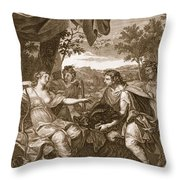 Meleager Presents The Boars Head Throw Pillow