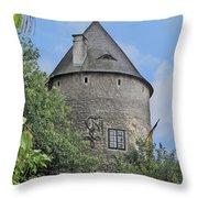 Melk Medieval Tower Throw Pillow