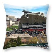 Mellon Arena Partially Deconstructed Throw Pillow by Amy Cicconi