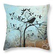 Melodic Dreams By Madart Throw Pillow