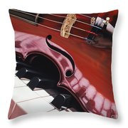 Melodic Reflections Throw Pillow