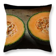 Melon Halves Throw Pillow