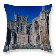 Melrose Abbey  Scotland Throw Pillow