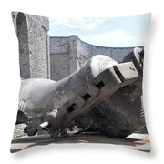 Melted Bell Throw Pillow
