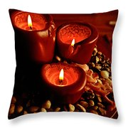 Melted Candles Throw Pillow