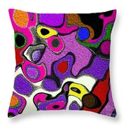 Melted Rubiks Cube 2 Throw Pillow