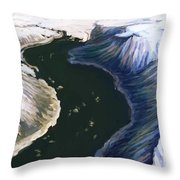 Melting Glacier 3 Of 3 Throw Pillow