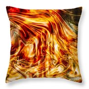 Melting Gold Throw Pillow