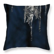 Melting Icicle Formation The Joker Throw Pillow