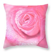 Melting In Pink Throw Pillow