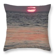 Melting Sun Into The Cool Sea Throw Pillow