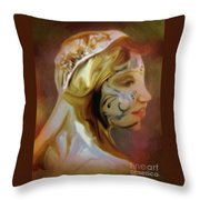 Melusine Of Avalon Throw Pillow