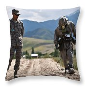 Member Of The Kyrgyz Republic Searches Throw Pillow