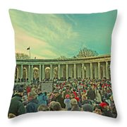 Memorial Amphitheater At Arlington National Cemetery Throw Pillow by Tom Gari Gallery-Three-Photography