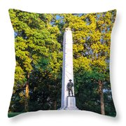Memorial At Fort Donelson Throw Pillow