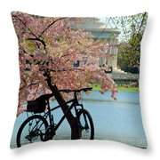 Memorial Bicycle Throw Pillow