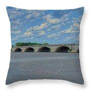 Memorial Bridge After The Storm Throw Pillow