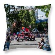 Memorial Day Parade In Grants Pass Throw Pillow