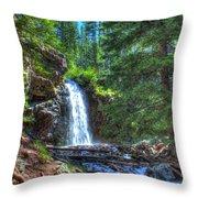 Memorial Falls With Sky Throw Pillow