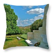 Memorial In Anzak Cemetery Along The Dardenelles In Gallipolii-turkey Throw Pillow