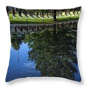 Memorial Reflecting Pool Throw Pillow