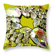 Memories Of Grandma's Brooches 7 Throw Pillow
