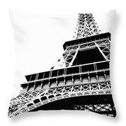 Eiffel Tower Silhouette Throw Pillow