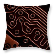 Memory Chip Throw Pillow