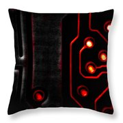 Memory Chip Bwr Throw Pillow by Bob Orsillo