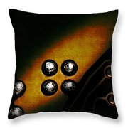Memory Chip Number Three Throw Pillow by Bob Orsillo