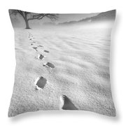 Memory Traces Of A Cold Day Throw Pillow