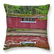 Memorytown Kissing Bridge Throw Pillow