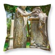 Memphis Elmwood Cemetery Monument - Cassie Hill Throw Pillow