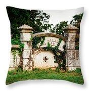 Memphis Elmwood Cemetery - Ayres Family Vault Throw Pillow