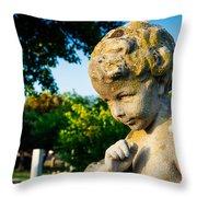 Memphis Elmwood Cemetery - Boy Angel Throw Pillow