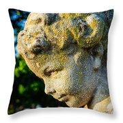 Memphis Elmwood Cemetery - Boy Angel Vertical Throw Pillow
