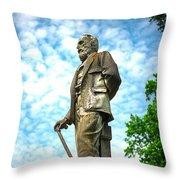Memphis Elmwood Cemetery - Man With Cane Throw Pillow